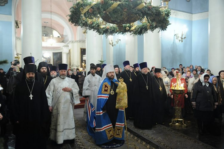 2012-01-14 Празднование 10-ой годовщины архиерейской хиротонии митрополита Волоколамского Илариона
