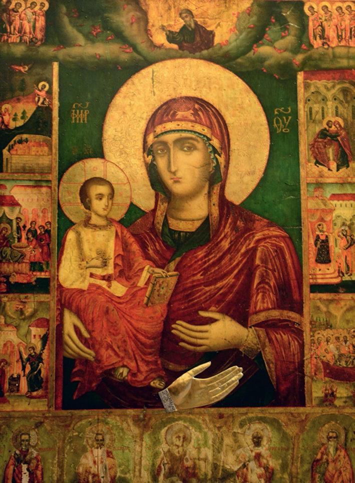 Троянская Икона Божией Матери Троеручица
