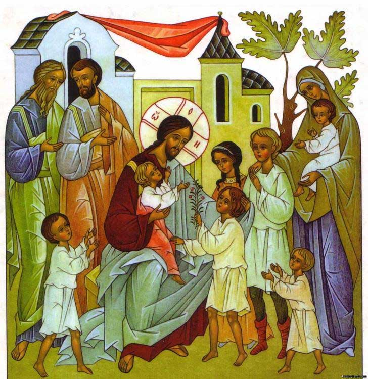 Ikona-Gospod-Iisus-Hristos-s-detmi